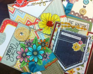 Sneak peek pocket fold